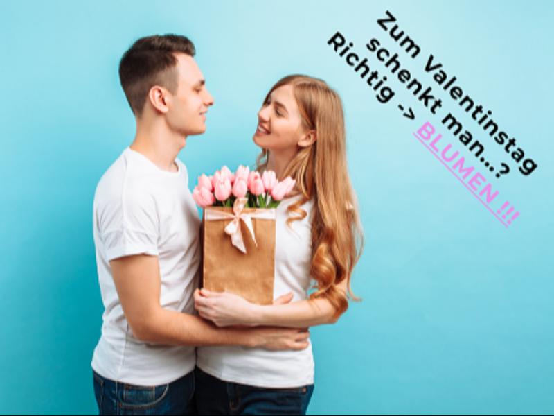 Zum VALENTINSTAG - Blumen schenken!