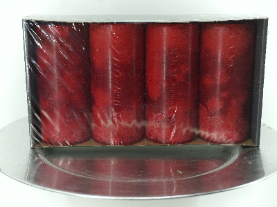 Kerze Adventskranz rot groß
