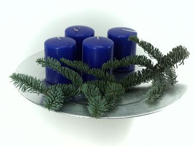 Stumpen Kerzen dunkelblau