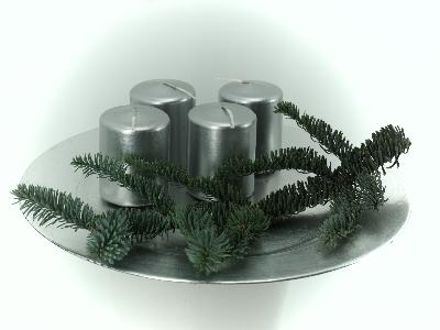 Stumpen Kerzen silber